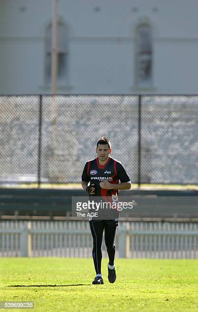 Melbourne Football training at the Junction Oval today with Adam Yze on 18th July 2005 THE AGE SPORT Picture by WAYNE TAYLOR