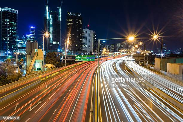 Melbourne Highways at night