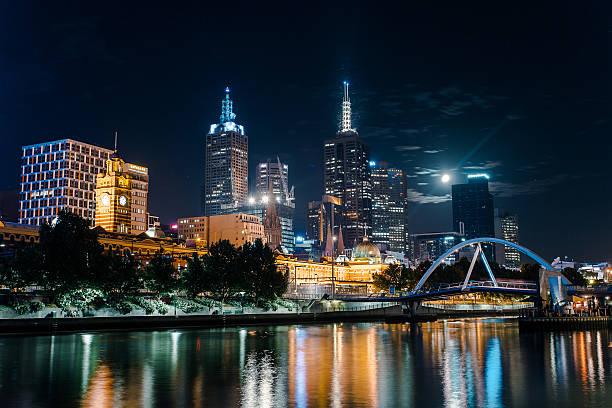 Melbourne in night