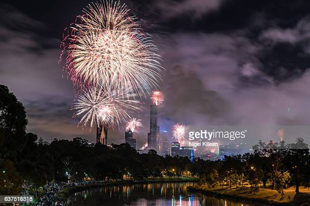 Melbourne, New Years Fireworks