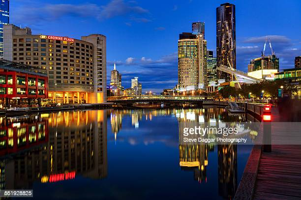 Melbourne night reflections