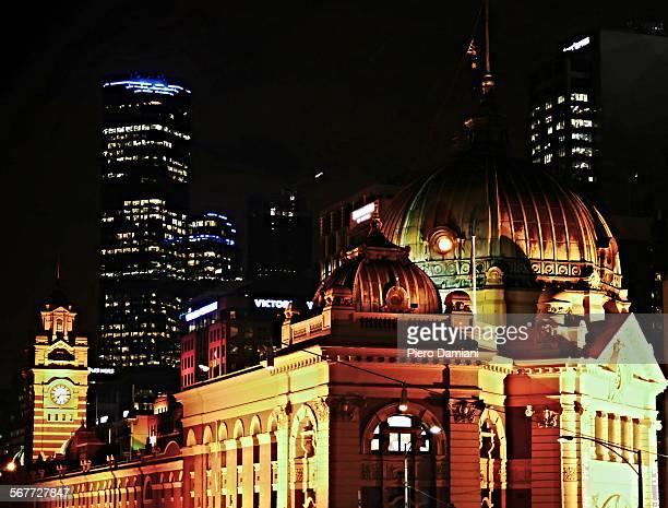 Melbourne night scene