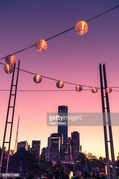 melbourne noodle night marke - melbourne austrália - fotografias e filmes do acervo