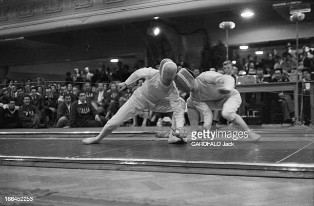 Melbourne Olympic Games 1956 A Melbourne en Australie les XVIèmes Jeux Olympiques d'été du 22 novembre au 8 décembre le français Chritian D'ORTOLA à...