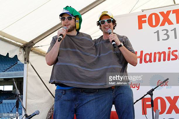 Melbourne radio presenters Hamish Blake and Andy Lee of Hamish Andy during a Thank you Tour to celebrate 5 years of the show on November 29 2010 in...