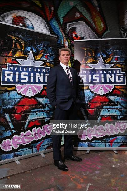 Melbourne Rising Head Coach Sean Hedger poses during the launch of the Melbourne Rising inaugural National Rugby Championship season at Blender Lane...