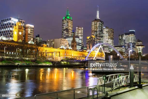 Melbourne Skyline at night, Victoria, Australia