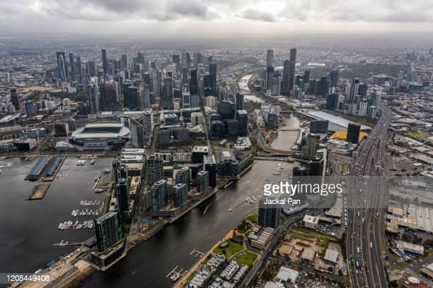 melbourne skyline - melbourne australia imagens e fotografias de stock
