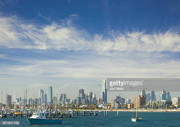 Melbourne skyline seen from the St. Kilda Pier