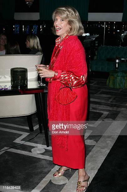 Melbourne socialite Lillian Frank attends the Australian premiere of SuperMax at The Ivy on May 13 2008 in Sydney Australia