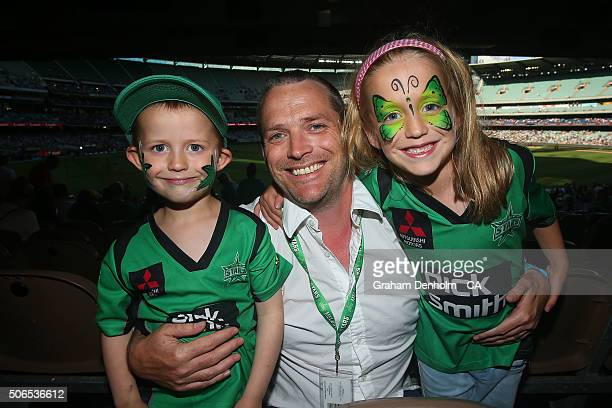 Melbourne Stars fans show their support during the Big Bash League final match between Melbourne Stars and the Sydney Thunder at Melbourne Cricket...