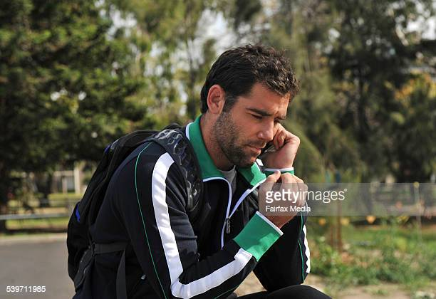 Melbourne Storm captain Cameron Smith arrives at Princess Park for the teams recovery session following its victory over the Warriors the day before