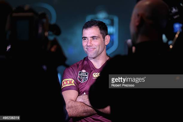 Melbourne Storm captain Cameron Smith speaks to the media during a NRL and Victoria Government announcement at Melbourne Cricket Ground on June 2...