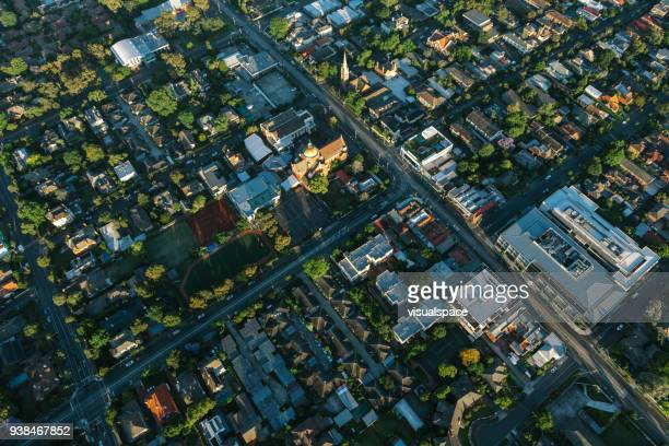 melbourne suburbia cross section - melbourne australia stock pictures, royalty-free photos & images