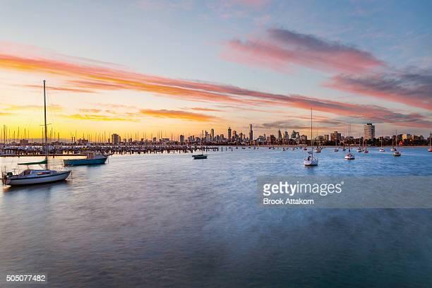 Melbourne sunset.