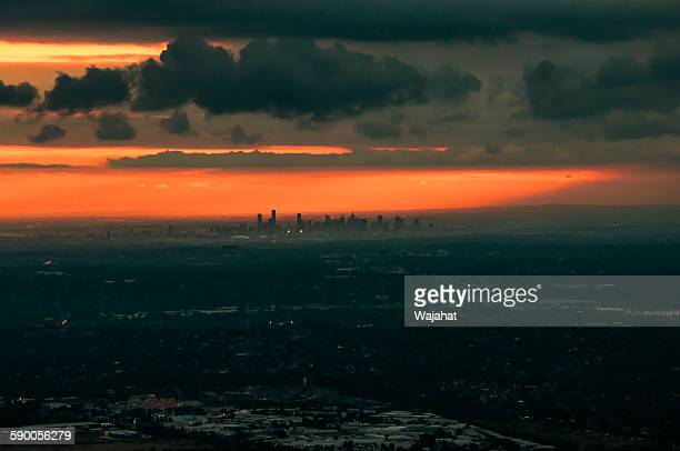 melbourne sunset - dandenong stock photos and pictures
