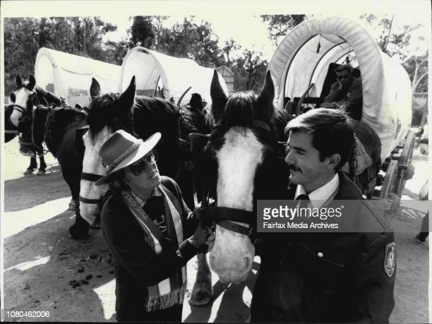 Melbourne to Sydney trek by five brave horsemen and women reached Megalong Farm in Blue Mountains todayWelcome home mm Constable David Armytage 23...