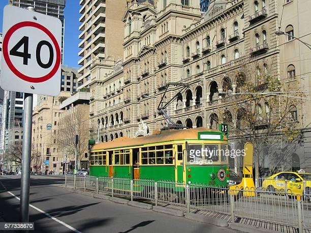 Melbourne Tram on Spring Street