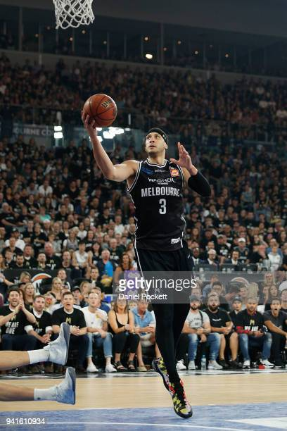 Melbourne United head coach Dean Vickerman reacts during game five of the NBL Grand Final series between Melbourne United and the Adelaide 36ers at...