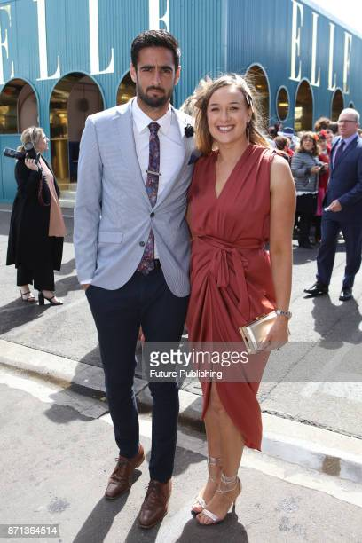 Melbourne Victory player Rhys Williams and his partner arrive at the Melbourne Cup Carnival on November 7 2017 in Melbourne Australia Chris Putnam /...