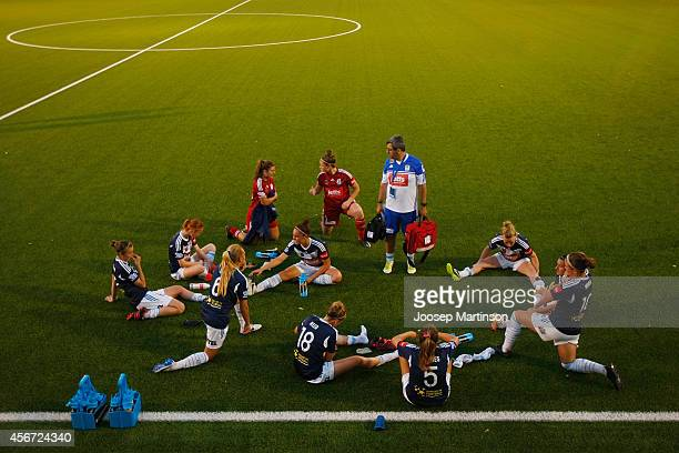 Melbourne Victory players cool down after the round four WLeague match between Sydney and Melbourne at Lambert Park on October 6 2014 in Sydney...