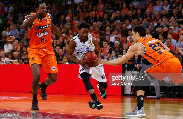 Melbournes Casper Ware dribbles the ball during the round six NBL match between the Cairns Taipans and Melbourne United at Cairns Convention Centre...