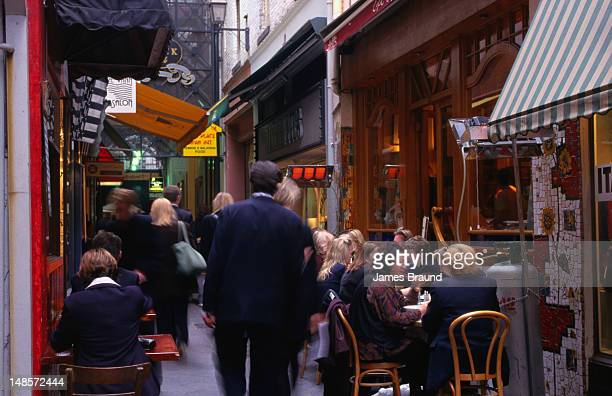 Melbourne's CBD has many laneways and small eateries that draw the lunchtime crowds.