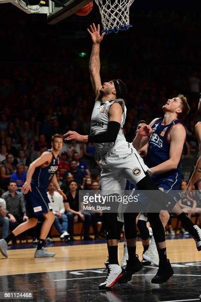 Melbourne's Kyle Adnam makes a basket during the round two NBL match between the Adelaide 36ers and Melbourne United at Titanium Security Arena on...