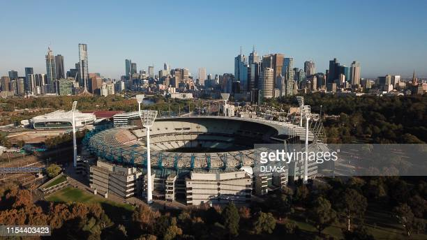 melbourne's mcg - cricket pitch stock pictures, royalty-free photos & images