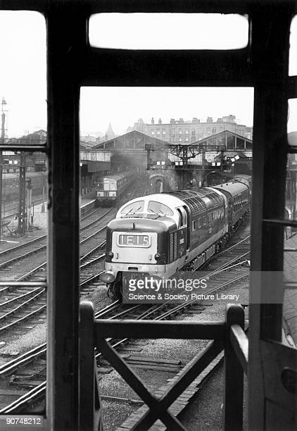 Meld' a Class 55 'Deltic' diesel locomotive No 9003 with a southbound passenger train The photographer Bishop Eric Treacy was often allowed special...
