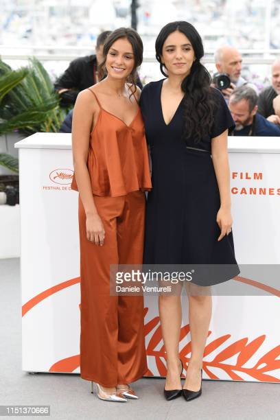 Meleinda Elasfour and Hafsia Herzi attend thephotocall for Mektoub My Love Intermezzo during the 72nd annual Cannes Film Festival on May 24 2019 in...