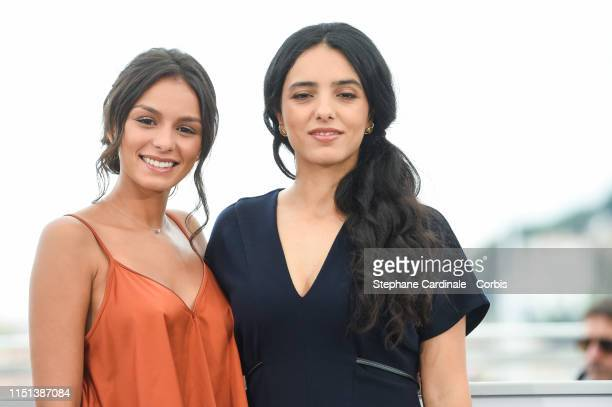 Meleinda Elasfour and Hafsia Herzi attend the photocall for Mektoub My Love Intermezzo during the 72nd annual Cannes Film Festival on May 24 2019 in...