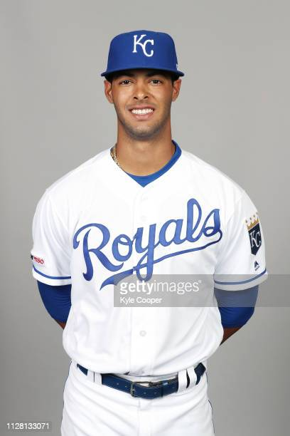Melendez of the Kansas City Royals poses during Photo Day on Thursday February 21 2019 at Surprise Stadium in Surprise Arizona