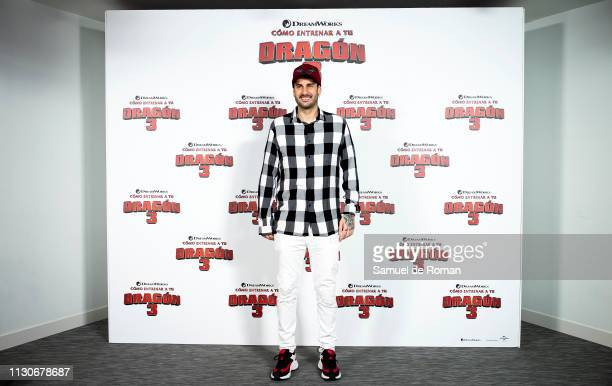 Melendi attends the 'Como Entrenar A Tu Dragon 3' Madrid photocall on February 19 2019 in Madrid Spain
