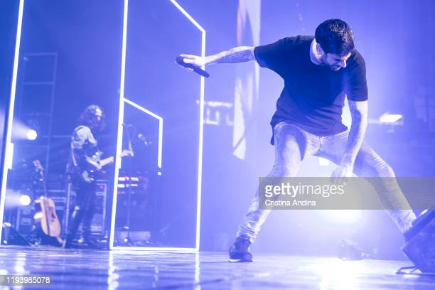 Melendi performs on stage at Coliseum de A Coruña on December 14 2019 in A Coruna Spain