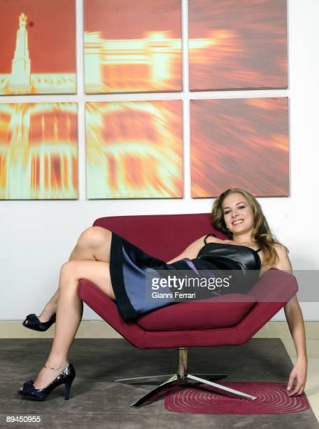 Melia Hotel, Madrid, Spain. Portrait of the actress Merce Llorens.