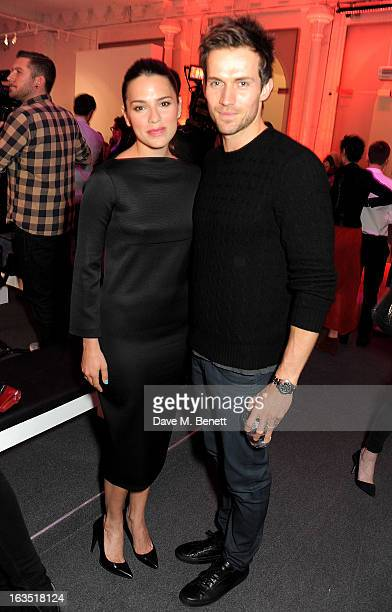 Melia Kreiling and Diet Coke model Andrew Cooper attend a party celebrating 30 years of Diet Coke and announcing designer Marc Jacobs as Creative...
