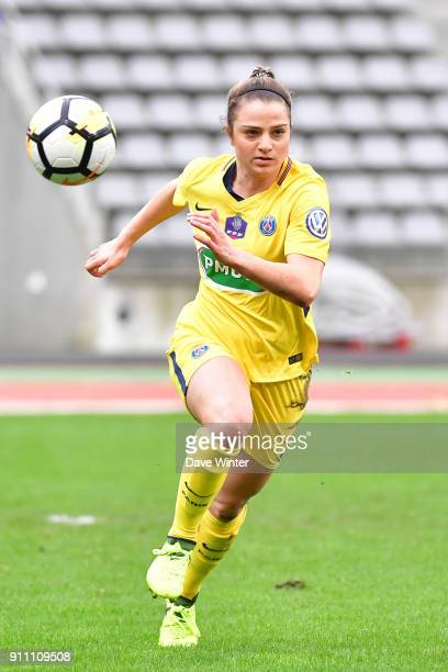 Melike Pekel of PSG during the Women's National Cup match between Paris FC and Paris Saint Germain at Stade Charlety on January 27 2018 in Paris...