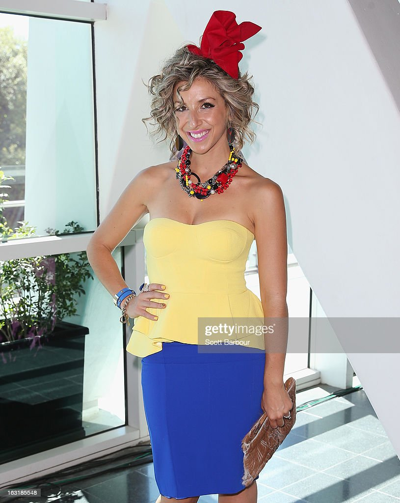 Melina Bagnato from 'My Kitchen Rules' poses as she attends Flemington's Beautiful Girls Fashion Lunch on March 6, 2013 in Melbourne, Australia.