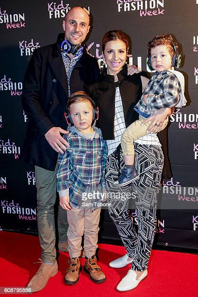 Melina Bagnato MKR and Family arrive ahead of the Kidz Fashion Week 2016 launch on September 20, 2016 in Melbourne, Australia.
