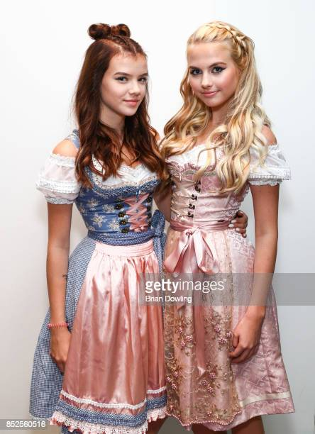 Melina Celine and Jellina Haeuser attend the Influencer event 'Create Your New Look' hosted by Udo Walz on September 23 2017 at the Udo Walz Salon in...