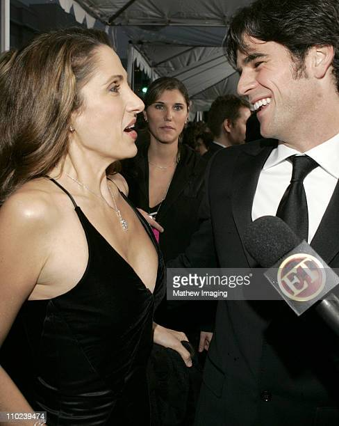 Melina Kanakaredes and Eddie Cahill during 31st Annual People's Choice Awards ET and The Insider Arrivals at Pasadena Civic Auditorium in Pasadena...