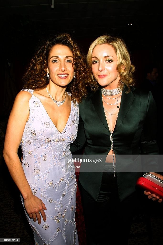 Melina Kanakaredes and Jane Krakowski during The 58th Annual Golden Globe Awards - HBO After Party at Beverly Hilton in Los Angeles, California, United States.