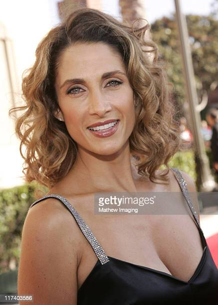 Melina Kanakaredes during 58th Annual Creative Arts Emmy Awards Arrivals at The Shrine Auditorium in Los Angeles California United States