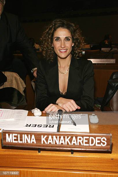 Melina Kanakaredes during The Global Summit for a Better Tomorrow Symposium Hosted by Virtue Foundation March 7 2007 at United Nations at 1st Avenue...