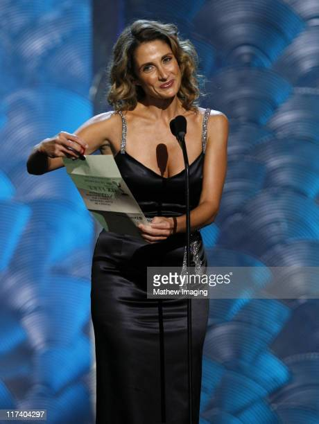 Melina Kanakaredes presenter during 58th Annual Creative Arts Emmy Awards Show at The Shrine Auditorium in Los Angeles California United States