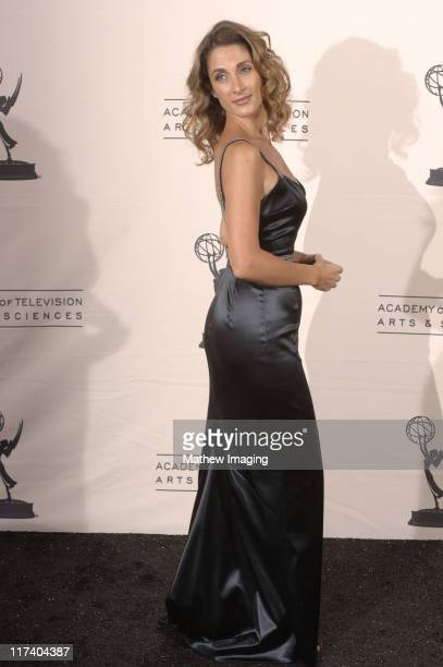 Melina Kanakaredes presenter during 58th Annual Creative Arts Emmy Awards Press Room at The Shrine Auditorium in Los Angeles California United States