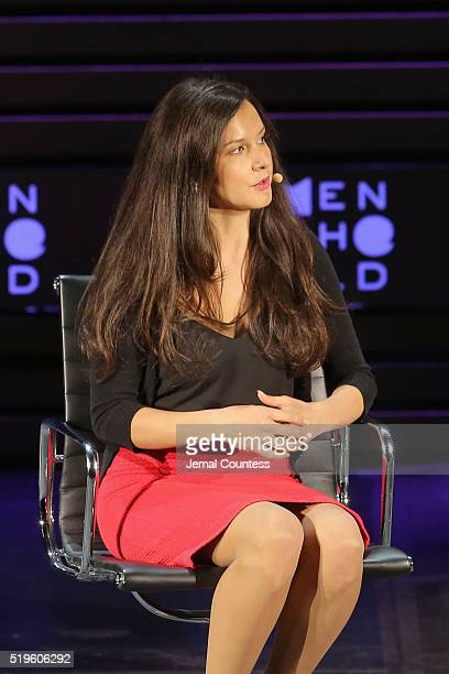 Melina LaboucanMassimo speaks onstage at Canada's Shame The Murdered and Missing during Tina Brown's 7th Annual Women In The World Summit at David H...