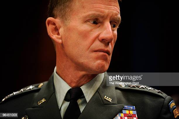 WASHINGTON DC Melina Mara CAPTION Army General Stanley McChrystal commander of the International Security Assistance Force and commander of United...
