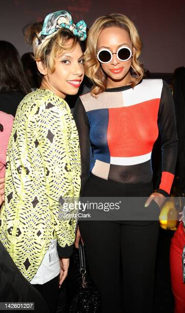 Melina Matsoukas and Keri Hilson attend the Hennessy 'Wild Rabbit' campaign launch event at the Highline Studios on April 5 2012 in New York City